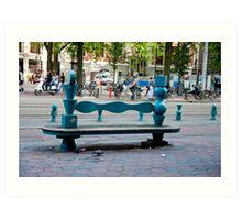 City Bench Art Print
