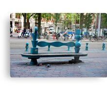 City Bench Metal Print