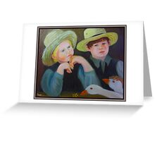 Two Lazy Barn Apprentices Greeting Card