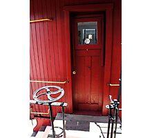 Caboose Door Photographic Print