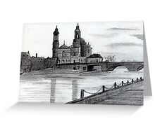200 - CHURCH OF Sts. PETER & PAUL, ATHLONE - DAVE EDWARDS - PENCIL - 1994 Greeting Card