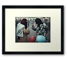 Mothers having a Ball Framed Print