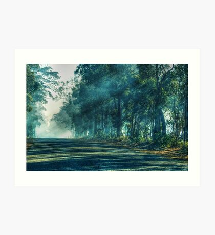 A Quiet Country Road In My Hometown Art Print