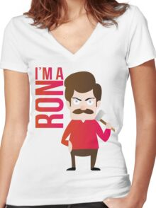 im a RON Women's Fitted V-Neck T-Shirt