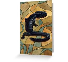 107 - CANADIAN NORTHWESTERN SALAMANDER - DAVE EDWARDS - WATERCOLOUR - 2003 Greeting Card
