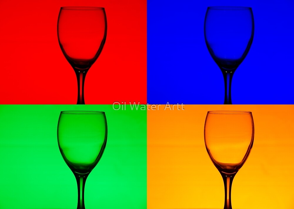 Warhol Style Wine by Oil Water Artt