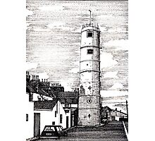 163 - BATH TERRACE LIGHTHOUSE, BLYTH (INK 1988) Photographic Print