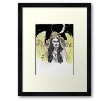 Lilith: queen of the night Framed Print