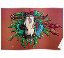 Santa Fe Skull Poster