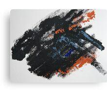 Rita-T, Abstract Painting, Black-BlueGray-Orange Canvas Print
