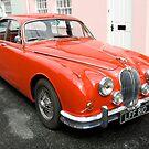 Vintage Red Jaguar  by Kawka