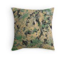 Rita-T_Black-Cream-Green Throw Pillow