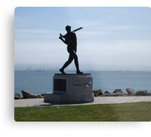 Willie McCovey Statue Metal Print