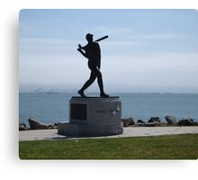 Willie McCovey Statue Canvas Print