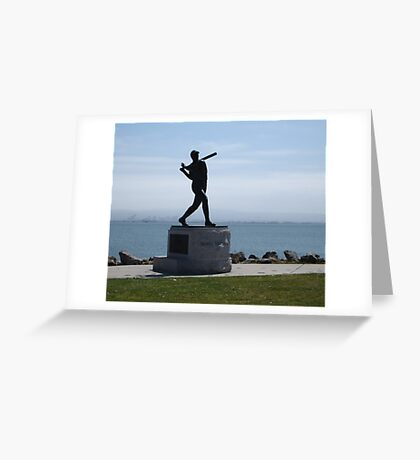 Willie McCovey Statue Greeting Card