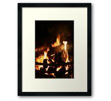 Roaring Fire Framed Print