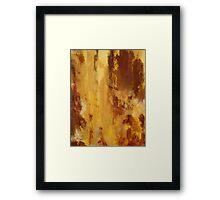 Rita-T, Abstract Painting, Brick Red, Orange, Yellow Framed Print
