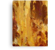 Rita-T, Abstract Painting, Brick Red, Orange, Yellow Canvas Print