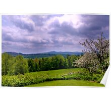 Mountains Making Love to Stormy Skies Poster