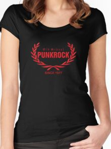 Old School PUNKROCK Since 1977 (in red) Women's Fitted Scoop T-Shirt