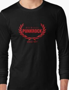 Old School PUNKROCK Since 1977 (in red) Long Sleeve T-Shirt