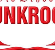 Old School PUNKROCK Since 1977 (in red) Sticker