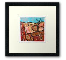 tree in the rock Framed Print