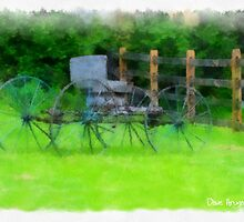 Burnside Plantation buggy with water color effect..... by DaveHrusecky