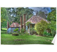 Warry's Cottage, Hill End, NSW, Australia (HDR) Poster
