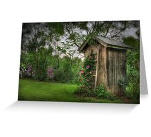 Fragrant Outhouse Greeting Card