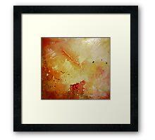 Sunset Spray Framed Print