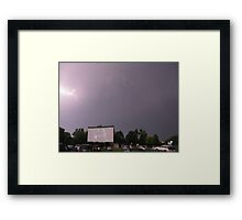 Natural Effects at the drive in Framed Print