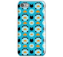 Fishbowl and a Cat Pattern iPhone Case/Skin