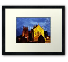 St Mary, Ottery St Mary, by night Framed Print