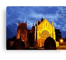 St Mary, Ottery St Mary, by night Canvas Print