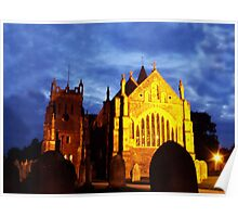 St Mary, Ottery St Mary, by night Poster