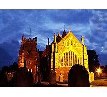 St Mary, Ottery St Mary, by night Photographic Print