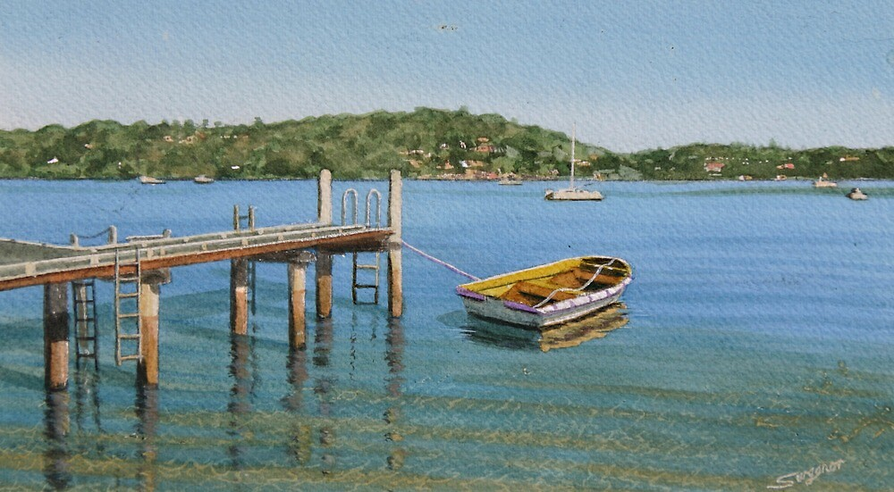 Shallow mooring Oatley Bay by Freda Surgenor