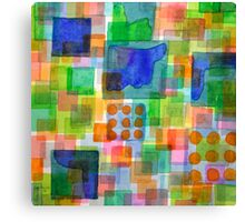 Playful Squares Canvas Print