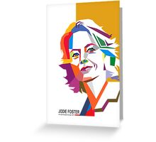 Jodie Foster Greeting Card