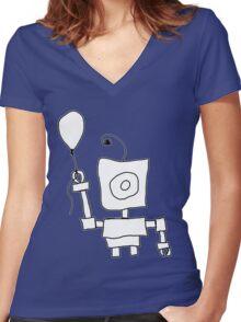 Kid Bot Women's Fitted V-Neck T-Shirt
