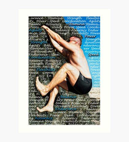 Athlete Art Print