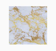 Awesome trendy modern faux gold glitter marble Unisex T-Shirt