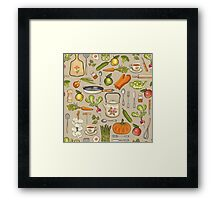 Retro kitchen. Framed Print
