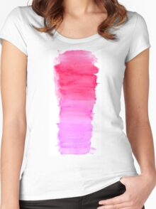 Girly pink Women's Fitted Scoop T-Shirt