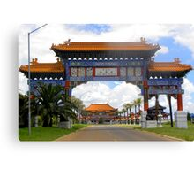 Entrance to the Buddhist Temple Canvas Print