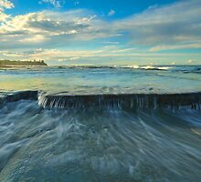 Washed Away-Shelly Beach by Michael Hallam