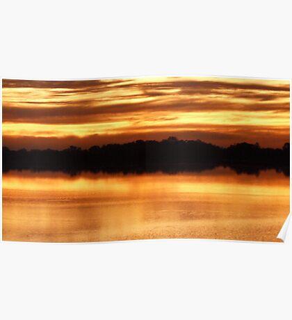 lake bonney sunset Poster