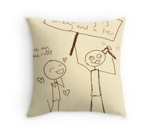 Where are our heroes? Throw Pillow