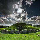 Snowdonia - Bryn Celli Ddu Burial Chamber by Angie Latham